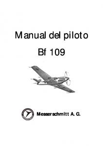 Manual del piloto Bf 109