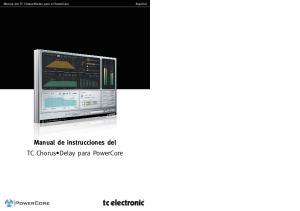 Manual del TC Chorus Delay para el PowerCore. Manual de instrucciones del TC Chorus Delay para PowerCore