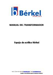 MANUAL DEL TRANSFORMADOR
