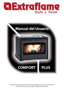 Manual del Usuario COMFORT PLUS. Stufe a Pellet