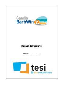 Manual del Usuario Enter your company name