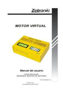 Manual del usuario. Incluye Manual del ARRANQUE ASISTIDO DE MOTORES