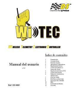 Manual del usuario. Índice de contenidos. Ref: DS v1.0