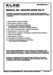 MANUAL DEL USUARIO SERIE RQ-75