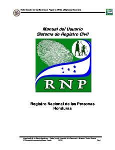 Manual del Usuario Sistema de Registro Civil