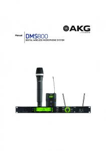 Manual DMS800 DIGITAL WIRELESS MICROPHONE SYSTEM