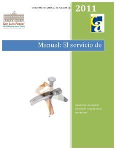 Manual: El servicio de Mantenimiento en Espacios