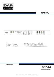 MANUAL ENGLISH DCP-24 Ordercode: D2083