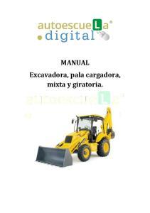 MANUAL Excavadora, pala cargadora, mixta y giratoria