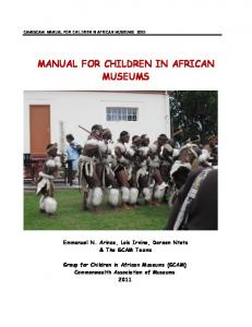MANUAL FOR CHILDREN IN AFRICAN MUSEUMS