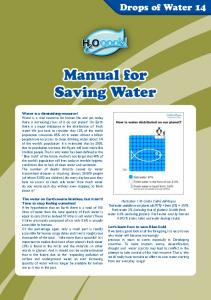 Manual for Saving Water
