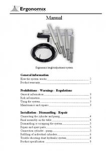 Manual. General information How the system works 2 Product warranty 2
