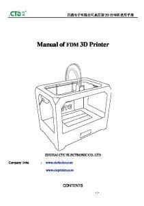 Manual of FDM 3D Printer