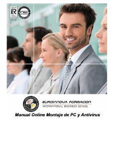 Manual Online Montaje de PC y Antivirus