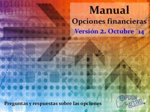 Manual Opciones financieras