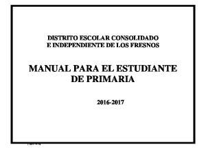 MANUAL PARA EL ESTUDIANTE DE PRIMARIA