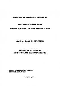 MANUAL PARA EL PROFESOR