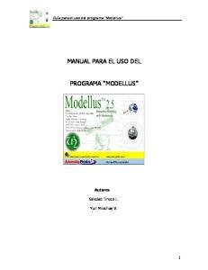 MANUAL PARA EL USO DEL PROGRAMA MODELLUS