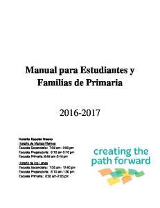 Manual para Estudiantes y Familias de Primaria