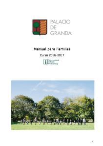 Manual para Familias. Curso