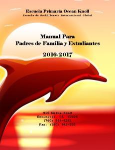 Manual Para Padres de Familia y Estudiantes