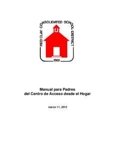 Manual para Padres del Centro de Acceso desde el Hogar