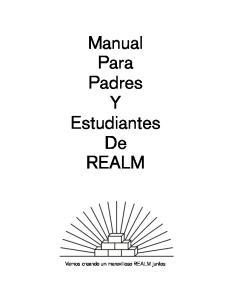 Manual Para Padres Y Estudiantes De REALM