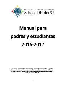 Manual para padres y estudiantes