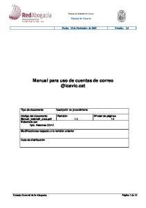 Manual para uso de cuentas de