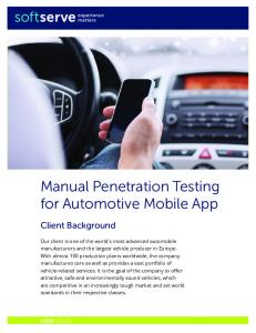Manual Penetration Testing for Automotive Mobile App