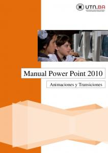 Manual Power Point Animaciones y Transiciones