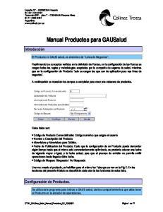Manual Productos para GAUSalud