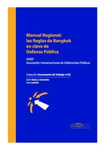 Manual Regional: las Reglas de Bangkok en clave de Defensa Pública