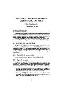 MANUAL TELESCOPIO MONS OBSERVATORIO DEL TEIDE