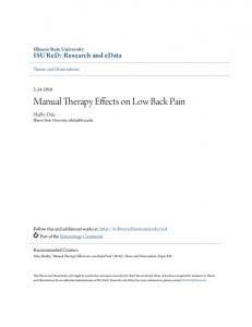 Manual Therapy Effects on Low Back Pain