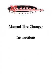 Manual Tire Changer. Instructions