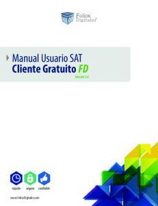Manual Usuario SAT Cliente Gratuito FD