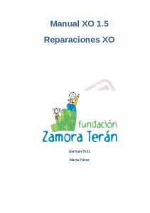 Manual XO 1.5 Reparaciones XO