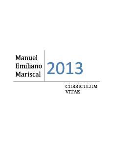Manuel. Emiliano Mariscal CURRICULUM VITAE