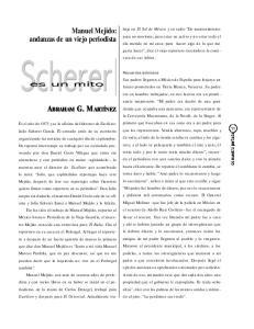 Manuel Mejido: andanzas de un viejo periodista