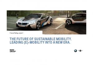 Manuel Sattig, project i THE FUTURE OF SUSTAINABLE MOBILITY. LEADING (E)-MOBILITY INTO A NEW ERA