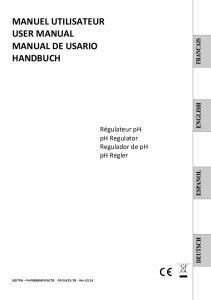 MANUEL UTILISATEUR USER MANUAL MANUAL DE USARIO HANDBUCH