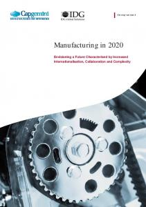 Manufacturing in 2020