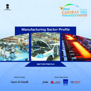 Manufacturing Sector Profile SECTOR PROFILE