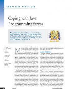 Many developers view Java as the language