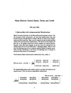 Many-Electron Atomic States, Terms, and Levels