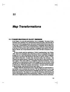 Map Transformations 11.1 TRANSFORMATIONS OF OBJECT DIMENSION