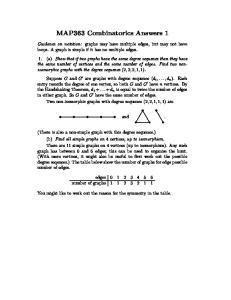 MAP363 Combinatorics Answers 1