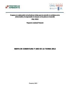 MAPA DE COBERTURA Y USO DE LA TIERRA 2012