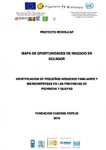 MAPA DE OPORTUNIDADES DE NEGOCIO EN ECUADOR